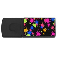 Colorful Stars Pattern Usb Flash Drive Rectangular (4 Gb) by LalyLauraFLM