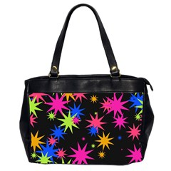 Colorful Stars Pattern Oversize Office Handbag (2 Sides) by LalyLauraFLM