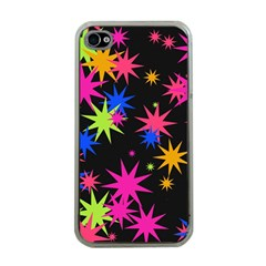 Colorful Stars Pattern Apple Iphone 4 Case (clear) by LalyLauraFLM