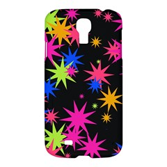 Colorful Stars Pattern Samsung Galaxy S4 I9500/i9505 Hardshell Case by LalyLauraFLM