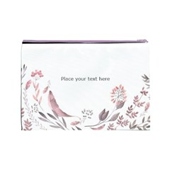 Watercolor Cosmetic Bag (l) By Joy   Cosmetic Bag (large)   63r1xryhaygb   Www Artscow Com Back