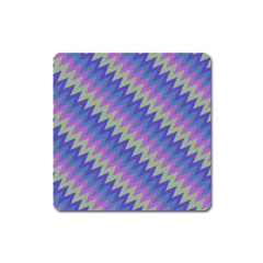 Diagonal Chevron Pattern Magnet (square) by LalyLauraFLM
