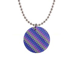Diagonal Chevron Pattern 1  Button Necklace by LalyLauraFLM