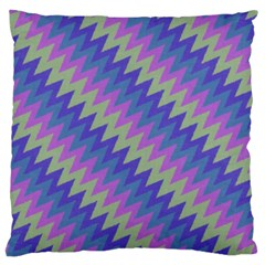Diagonal Chevron Pattern Large Cushion Case (two Sides) by LalyLauraFLM