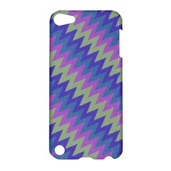 Diagonal Chevron Pattern Apple Ipod Touch 5 Hardshell Case by LalyLauraFLM