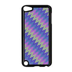 Diagonal Chevron Pattern Apple Ipod Touch 5 Case (black) by LalyLauraFLM