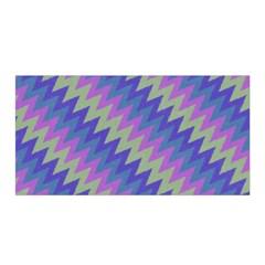 Diagonal Chevron Pattern Satin Wrap by LalyLauraFLM