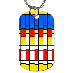 Colorful Rectangles Pattern Dog Tag (two Sides) by LalyLauraFLM