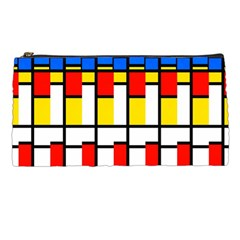 Colorful Rectangles Pattern Pencil Case by LalyLauraFLM