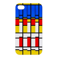 Colorful Rectangles Pattern Apple Iphone 4/4s Premium Hardshell Case