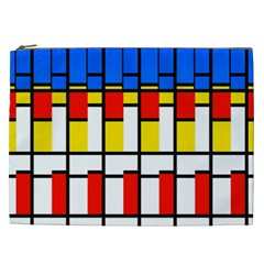 Colorful Rectangles Pattern Cosmetic Bag (xxl) by LalyLauraFLM