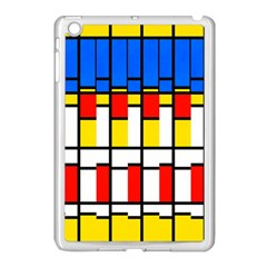Colorful Rectangles Pattern Apple Ipad Mini Case (white) by LalyLauraFLM