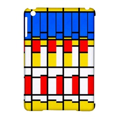 Colorful rectangles pattern Apple iPad Mini Hardshell Case (Compatible with Smart Cover) by LalyLauraFLM