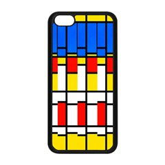 Colorful Rectangles Pattern Apple Iphone 5c Seamless Case (black) by LalyLauraFLM