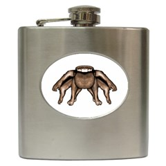 Fantasty Dark Alien Monster Hip Flask by dflcprints