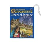 Carcassonne Wheel of Fortune Tile Drawing Bag with Score Tracker LARGE - Drawstring Pouch (Large)