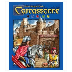 Carcassonne Tile Drawing Bag With Score Tracker Large By Curtisc   Drawstring Pouch (large)   61wtq8bu41y8   Www Artscow Com Front