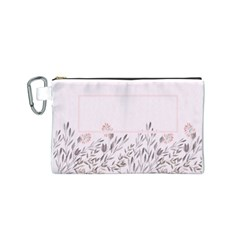Floral Cosmetic Bag (s) By Joy   Canvas Cosmetic Bag (small)   B8sdabz5t2hx   Www Artscow Com Front