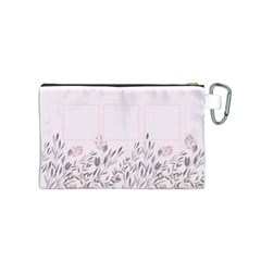 Floral Cosmetic Bag (s) By Joy   Canvas Cosmetic Bag (small)   B8sdabz5t2hx   Www Artscow Com Back