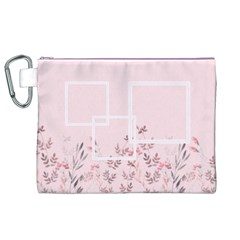 Floral Cosmetic Bag (xl) By Joy   Canvas Cosmetic Bag (xl)   P3n1pvz7zfuq   Www Artscow Com Front