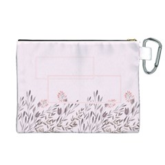 Floral Cosmetic Bag (xl) By Joy   Canvas Cosmetic Bag (xl)   1g00p8pz5g3q   Www Artscow Com Back