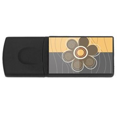 Floral Design 4gb Usb Flash Drive (rectangle) by EveStock