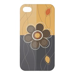 Floral Design Apple Iphone 4/4s Premium Hardshell Case by EveStock