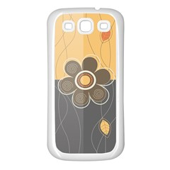 Floral Design Samsung Galaxy S3 Back Case (white) by EveStock