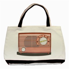 Pink Retro Radio Classic Tote Bag by hoddynoddy
