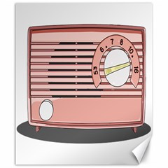 Pink Retro Radio Canvas 20  X 24  (unframed) by hoddynoddy