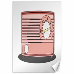 Pink Retro Radio Canvas 20  X 30  (unframed) by hoddynoddy