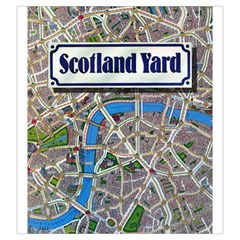 Scotland Yard Tile Drawing Bag Large By Curtisc   Drawstring Pouch (large)   N63ec2tv07es   Www Artscow Com Front