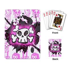 Cartoon Skull  Playing Cards Single Design by ArtistRoseanneJones