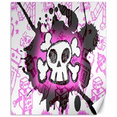 Cartoon Skull  Canvas 8  X 10  (unframed) by ArtistRoseanneJones