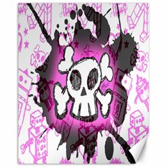 Cartoon Skull  Canvas 11  x 14  (Unframed) by ArtistRoseanneJones