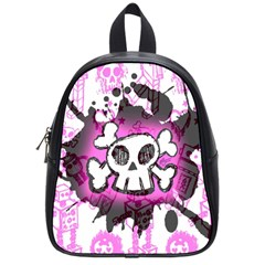Cartoon Skull  School Bag (small) by ArtistRoseanneJones