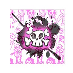 Cartoon Skull  Small Satin Scarf (square)