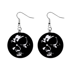 Gothic Skull Mini Button Earrings by ArtistRoseanneJones