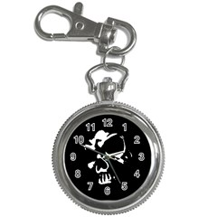 Gothic Skull Key Chain Watch by ArtistRoseanneJones