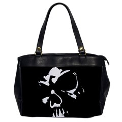 Gothic Skull Oversize Office Handbag (one Side) by ArtistRoseanneJones