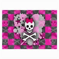 Princess Skull Heart Glasses Cloth (large)
