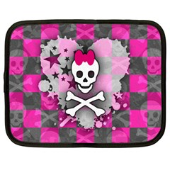 Princess Skull Heart Netbook Sleeve (xl) by ArtistRoseanneJones