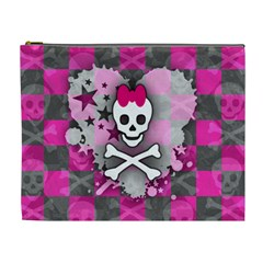 Princess Skull Heart Cosmetic Bag (xl)