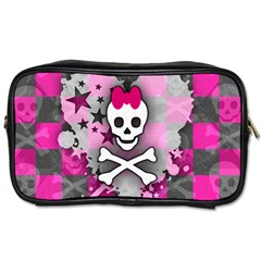 Princess Skull Heart Travel Toiletry Bag (one Side)