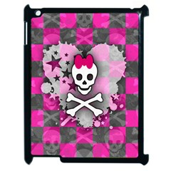 Princess Skull Heart Apple Ipad 2 Case (black) by ArtistRoseanneJones