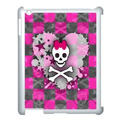 Princess Skull Heart Apple Ipad 3/4 Case (white)