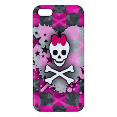 Princess Skull Heart Apple Iphone 5 Premium Hardshell Case