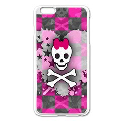 Princess Skull Heart Apple Iphone 6 Plus Enamel White Case