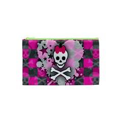 Princess Skull Heart Cosmetic Bag (xs)