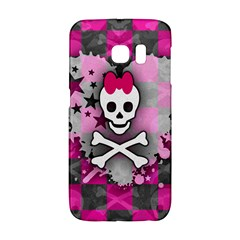 Princess Skull Heart Samsung Galaxy S6 Edge Hardshell Case by ArtistRoseanneJones
